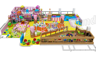 Candy Theme Toddler Indoor Soft Play Area