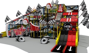 F1 Racing Car Theme Commercial Kids Indoor Soft Play Zone