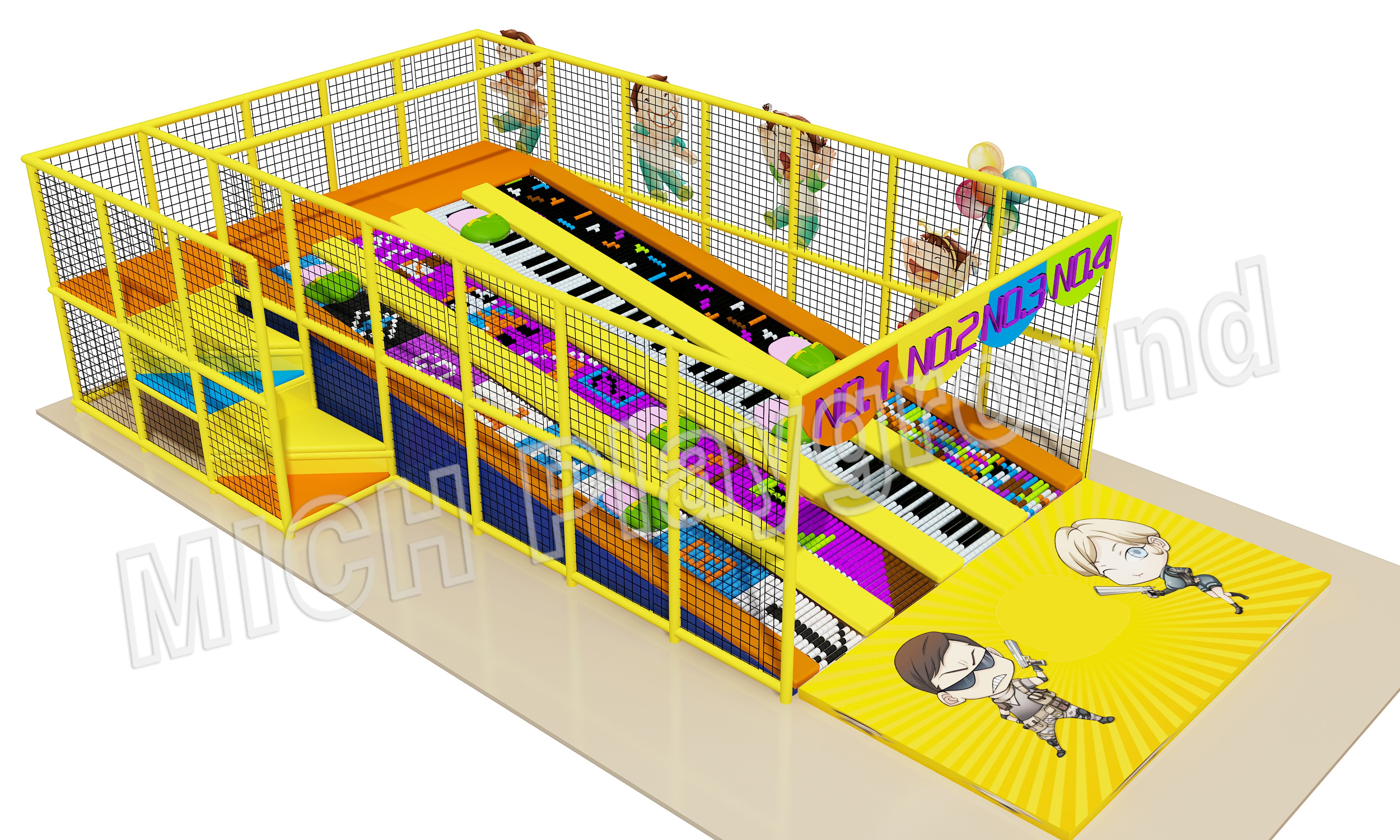 Kids Slide Amusement Soft Indoor Playground 6612A