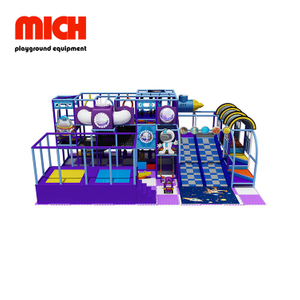 Purple Indoor Soft Playground with Donat Slide Equipment for Children