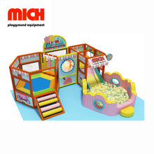 Safe Mini Indoor Soft Mobile Playground Facility with Trampoline for Kids