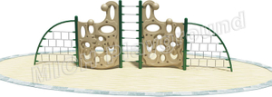 Toddler Outdoor Plastic Climbing Frame with Rope