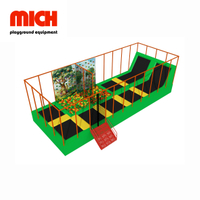 Small Indoor Kids Trampoline with Climbing Wall