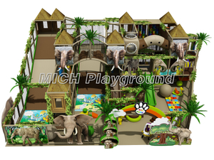 Jungle Themed Kids Indoor Soft Play Centre