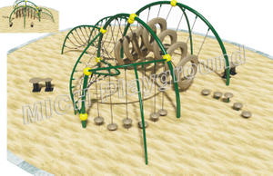 Toddler Outdoor Climbing Rope Structure Playset