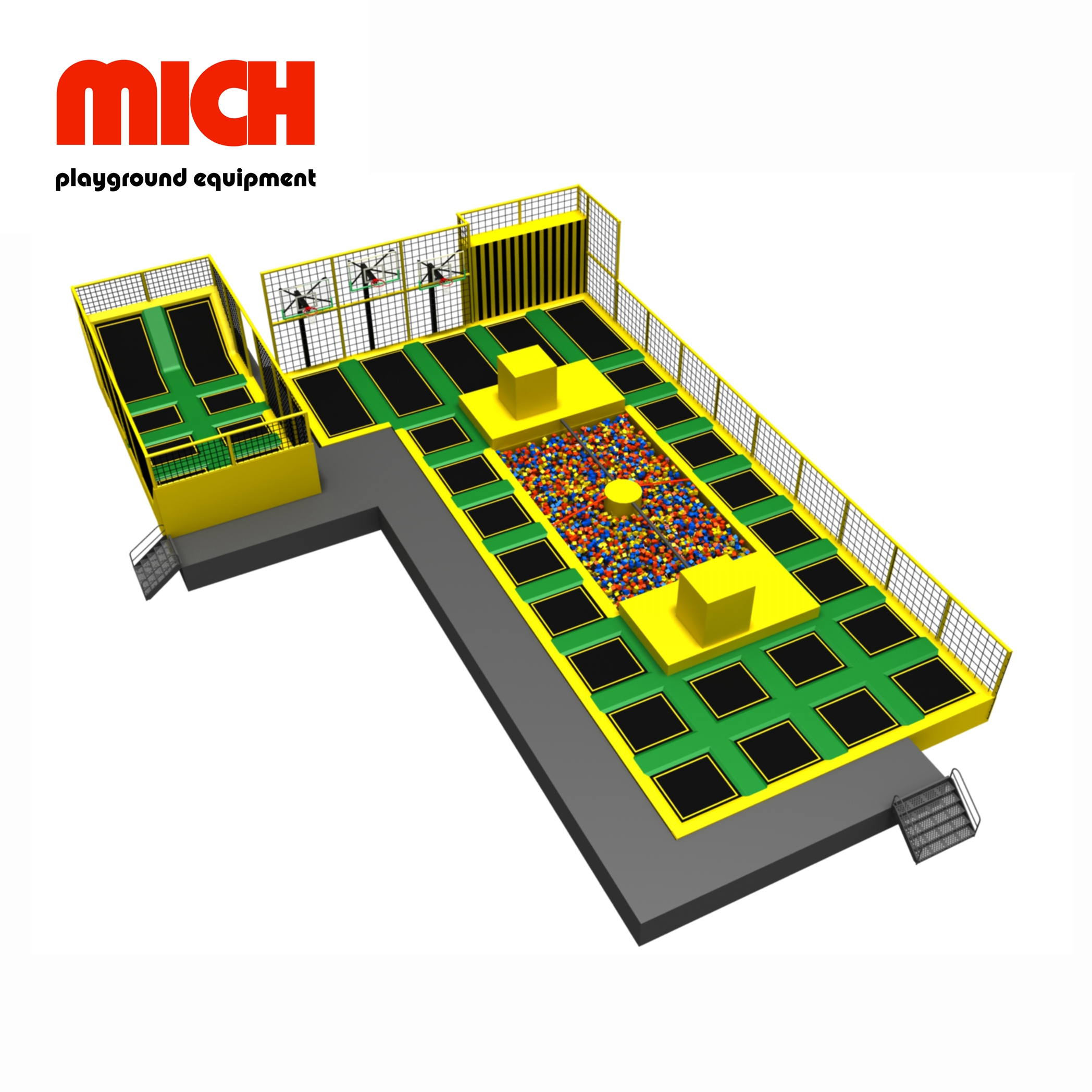 Various Games Indoor Trampoline Park for Sale