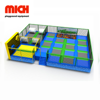 Commercial Indoor Trampoline Park with Spider Wall Jumping Bed Equipment