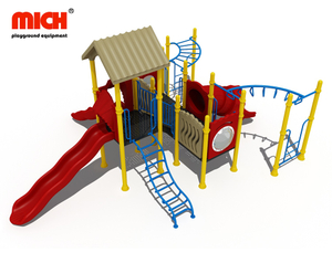 Small Outdoor Jungle Gym with Slides
