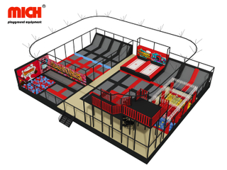 400sqm Indoor Trampoline Park with Zipline