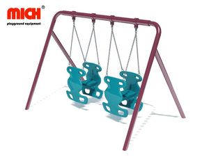 Outdoor Playground Equipment Double Seats Swing Set for Sale