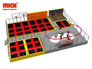 Indoor Trampoline Park with Zipline Climbing Walls for Sale