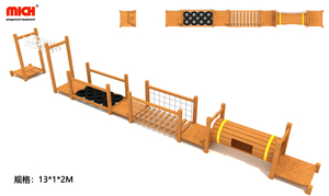 Kids Outdoor Wooden Ninja Warrior Obstacles