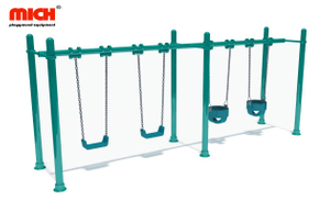 Outdoor Playground Four Seats Kids Swing Set for Sale