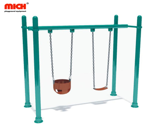 Outdoor Playground Kids Double Seats Swing for Sale