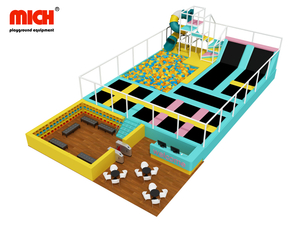 Indoor Trampoline Park with Spiral Slide for Sale