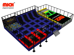 Customized Indoor Trampoline Park with Basketball Foam Pit for Sale
