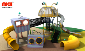 Custom Kids Outdoor Playset with Slide