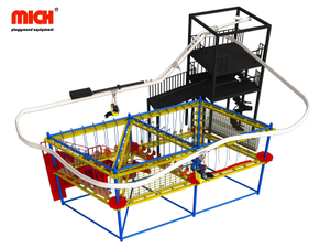 Indoor Skywalk And Zipline Playground Equipment for Sale