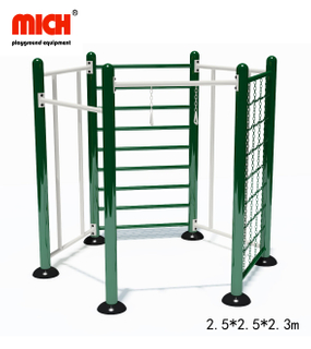 Multi-Functional Combination of Outdoor Fitness Equipment with Climbing Pole, Bar, Chain, Rings for Sale