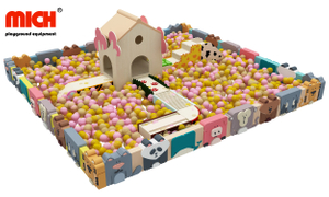Kids Indoor Custom Soft Ball Pit Pool with Tunnel