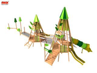 Mich Custom Children Outdoor Wooden Playset