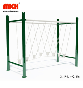 Galvanized Outdoor Fitness Equipment with Swing Single Bridge for Sale