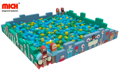 Kids Indoor Square Custom Soft Play Ball Pit Pool for Sale