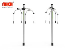 Stainless Steel Outdoor Fitness Equipment with Handicap Arm Extension
