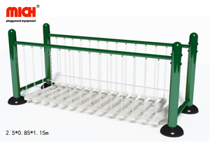 Galvanized Outdoor Chain Swing Bridge Fitness Equipment for Sale