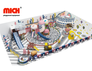 Kids Indoor Playground Equipment with Slide Park And Ball Pit For Sale
